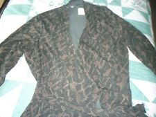 NEW Woman's size XL Extra Large J. Jill Rayon & Lycra Geometric Design Long Robe