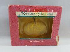 Love is Forever Vintage Hallmark Keepsake Miniature Christmas Tree Ornament