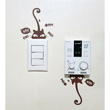 Gently Cat Luminescent Removable Decal Art Mural Wall Switch Sticker Kidsroom