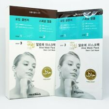 IQueen Aloe Mask Pack Stem Cell Mask 3 Step(Cleanser+Ampoule+Face Mask) K-Beauty