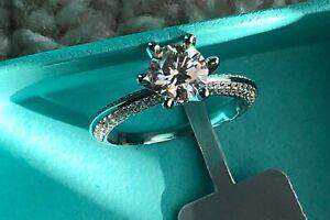 2 CT Round Cut Engagement Wedding Diamond Ring 14k White Gold Enhanced