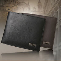 Fashion Men Genuine Leather Trifold Wallet Credit/ID Card Holder Coin Purse Slim