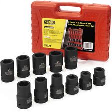 "1/"" Drive Metric Deep Impact socket set 22-41mm Hex Without box 3.2/"" length"