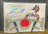 RONALD ACUNA JR. #06/50 SSP PATCH AUTO 2021 TOPPS TIER ONE BRAVES *PACK FRESH*