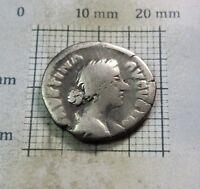 Roman Women FAUSTINA JR.161-175 A.D Silver Denarius Wife of Marcus Aurelius #259