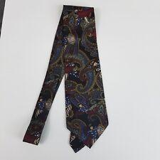 Hunting Horns J Riggings Mens Tie Red Blue Paisley American Flag 100% Silk
