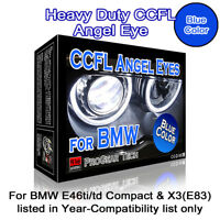 30000K Blue Heavy Duty BMW E46 Compact ti/td X3 E83 CCFL Angel Eyes Halo Rings