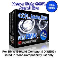 30000K Blue Heavy Duty BMW E46 Compact ti/td X3 E83 CCFL Angel Eyes Halo Rings