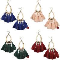 NEW Women Bohemian Long Tassel Fringe Boho Ear Stud Dangle Earrings Jewelry