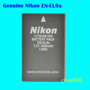Genuine Original Nikon EN-EL9A Battery for Nikon D60 D40 D40X D5000 D3000 MH-23