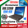 "PC NOTEBOOK PORTATILE LENOVO THINKPAD R61 14"" INTEL CORE 2 DUO RAM 3GB HDD 320GB"