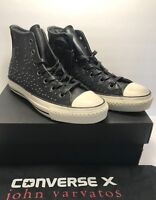 Converse Mens Size 11 John Varvatos CTAS Mini Stud Black Leather Shoes $250