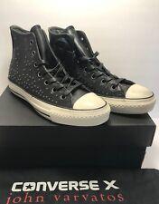 $250 Converse Mens 9 Womens 11 John Varvatos CTAS Mini Stud Black Leather Shoes