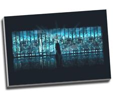 "Batman Over City Movie Canvas Print Wall Art 30x20"" A1"
