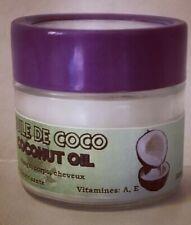 Crème pour visage, Peau Cheveux. Beurre de coco 100% Bio, Naturel, doux,parfumée