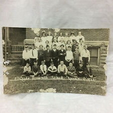 Vintage 1922 Real Photo Postcard Lorain Ohio Class Picture Brownell School