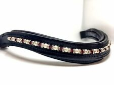 Pearl and Red Crystal BrowBand -  XXfull, Xfull, Full, Cob , Pony