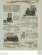 1922 PAPER AD Caloric Fireless Cooker Aluminum Soapstone Radiators