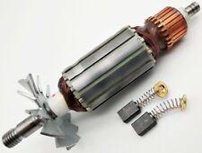 Motor Anker Rotor Läufer + Kohlen für Makita Hobel 1923 B,N1923B,1900B,1901,1902