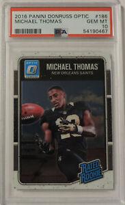 Michael Thomas 2016 Panini Donruss Optic #186 Rookie Card PSA 10