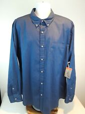 St Johns Bay NWT Mens X-Large Classic Fit Blue Button Down Long Sleeve Shirt