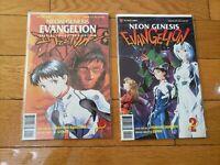 VIZ COMICS  NEON GENESIS EVANGELION BOOKS VOL 1, VOL 2, SPECIAL EDITION  (1997)