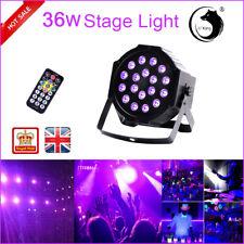 U`King 36W Stage Lighting UV 18LED DMX512 Remote PAR DJ Disco Party Shows Light