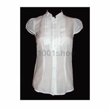 Silk Regular Size Button Down Shirts for Women