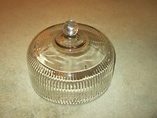 Anchor Hocking Heavy Glass Ribbed Dome Cake Topper Cover Lid-10""