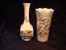 Aynsley Pembroke 7 inch Square Vase and Scalloped 6 inch Vase