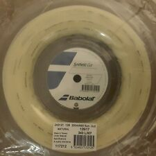 Babolat Synthetic Gut 17G 1.25mm 660ft 200m Tennis String Reel Natural Color