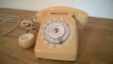Telephone VINTAGE S63 à cadran couleur ivoire année 70 occasion,