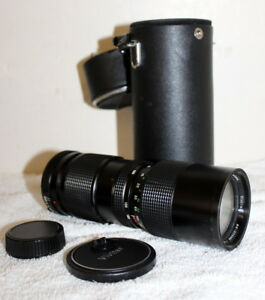 Vivitar 35mm SLR Camera Lens f= 85-205mm Auto Zoom 1:3.8 + Case
