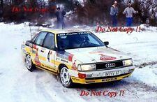 Walter Rohrl Audi 200 Quattro Monte Carlo Rally 1987 Photograph 2