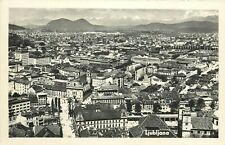 Slovenia Ljubljana panorama photo postcard