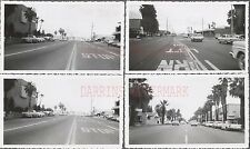 Lot of 4 Vintage 1961 Photos Cars in Palms Springs CA Street Scene 771316