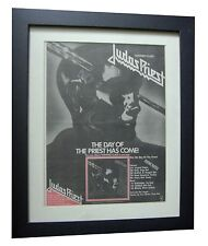 JUDAS PRIEST+Stained Class+POSTER+AD+RARE ORIGINAL 1978+FRAMED+FAST GLOBAL SHIP