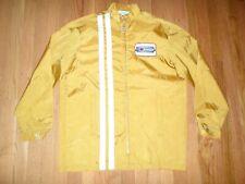 VTG Car Racing Yellow Stripe Jacket 1970s NAPA Sound Master Muffler Patch M