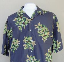 Polo Ralph Lauren Clayton Camp Hawaiian Shirt Large Floral Tropical Cotton Blue