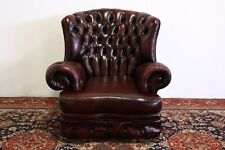 Poltrona chesterfield chester bergere MONK inglese pelle BORDEAUX original