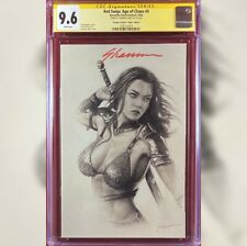 RED SONJA AGE OF CHAOS #4 VIRGIN VARIANT COVER CGC 9.6 SS SIGNED BY SHANNON MAER