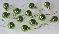 Apple Green Mini Ornaments Christmas Shatterproof Balls Shiny Miniature Tree