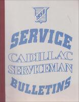 1959 Cadillac Service Bulletins Shop Manual Revisions Serviceman Repair Book