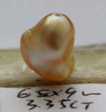 """Genuine """"natural"""" Australian strong golden south sea pearl 3.35ct"""
