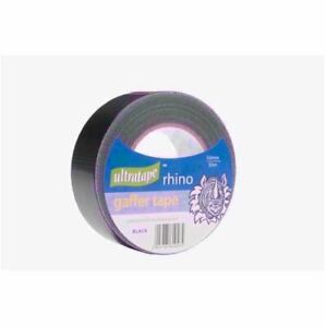 Ultratape RHINO Black Gaffer Duct Waterproof Multi Purpose Cloth Tape 50mm x 50m