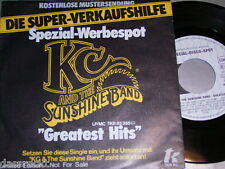"""7"""" - KC & The Sunshine Band / Greatest Hits - PROMO SPEZIAL ONE SIDED # 0104"""