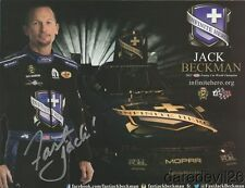 2017 Jack Beckman signed Infinite Hero Dodge Charger Funny Car NHRA postcard
