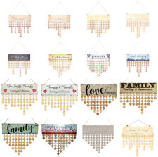 Family & Friend Wood Hanging Calendar Board Birthday Reminder Plaque Party Gifts