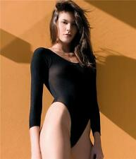 Opaque High Leg Teddy Body Suit Sexy Designer Underwear Lingerie 3 Colours P8578
