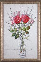 Sketchbook Roses (Vase of Red Roses) Counted Cross Stitch Kit Design Works